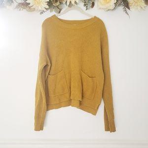 Madewell Patch Pocket Sweater Mustard Yellow M